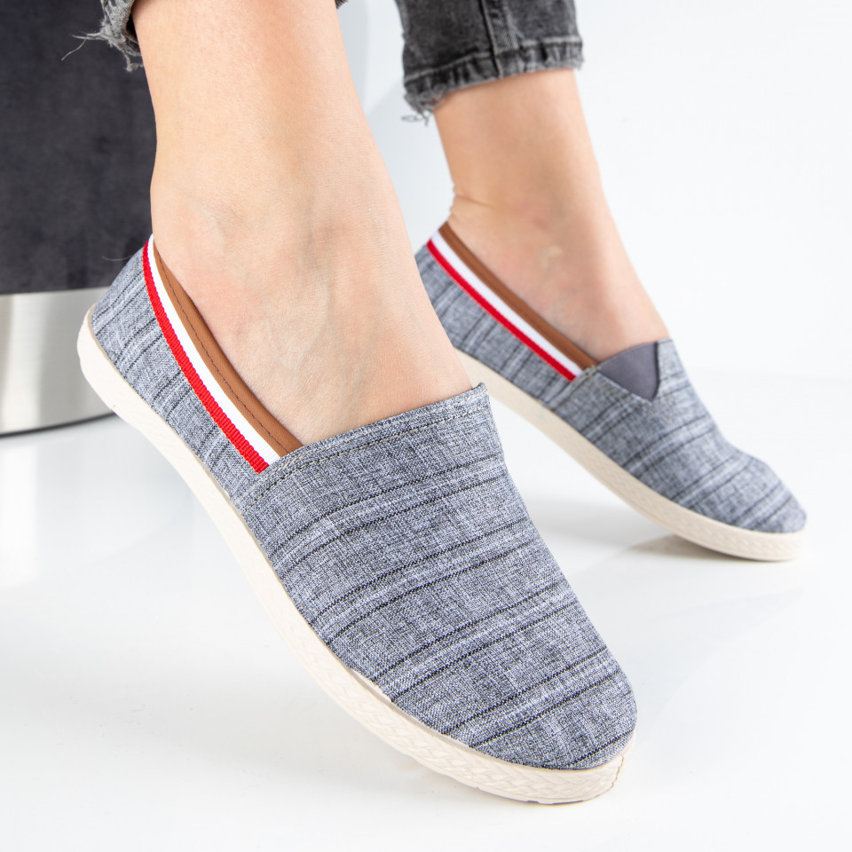 "Espadrile ""MireaFashion"" Cod: 348 GREY (H5)"