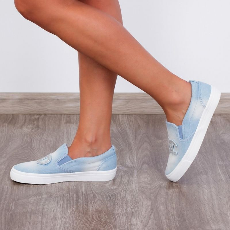 "Espadrile ""MireaFashion"" Cod: H2057 Lt. Blue (ZZ1)"