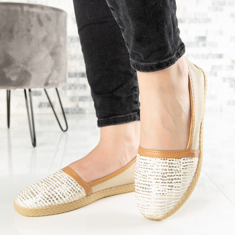 "Espadrile ""MireaFashion"" Cod: ZJ-20 BEIGE (Q13)"