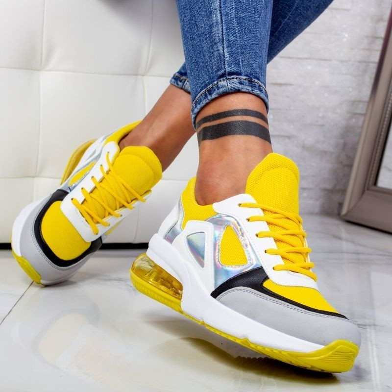 "Pantofi Sport ""MireaFashion"" Cod: 2233 YELLOW (H12)"
