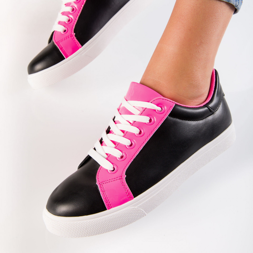 "Pantofi sport""MireaFashion"" Cod: 553-1 BLACK/PINK (E14)"
