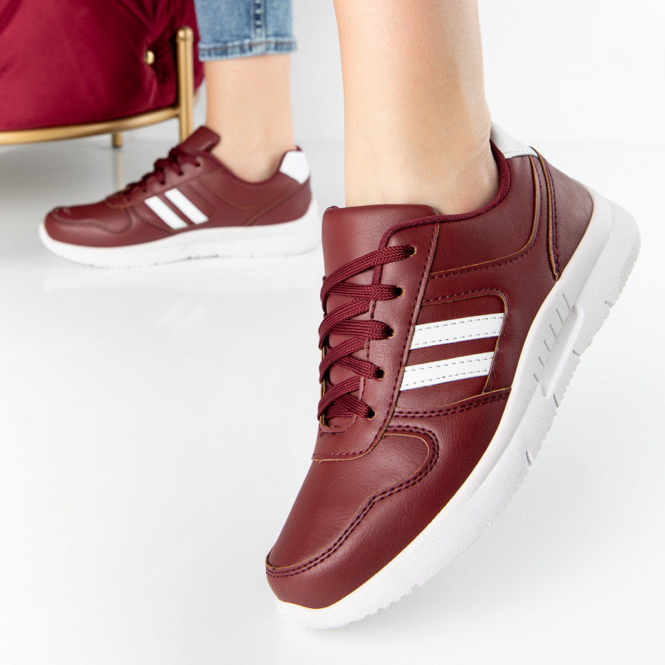 "Pantofi Sport ""MireaFashion"" Cod: A1816-4 WINE RED (G4)"