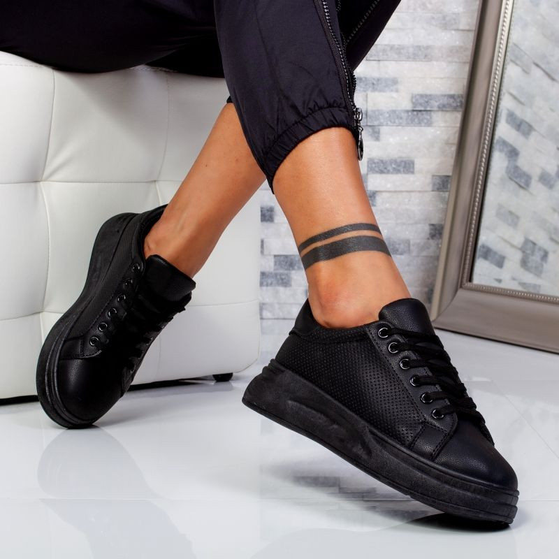 "Pantofi Sport ""MireaFashion"" Cod: B98 BLACK (O15)"