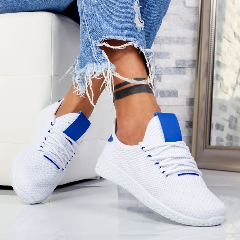 "Pantofi Sport ""MireaFashion"" Cod: G8109-6 WHITE/BLUE (C4)"