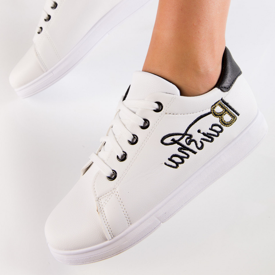 "Pantofi Sport ""MireaFashion"" Cod: HQ-15 WHITE/BLACK (G16)"