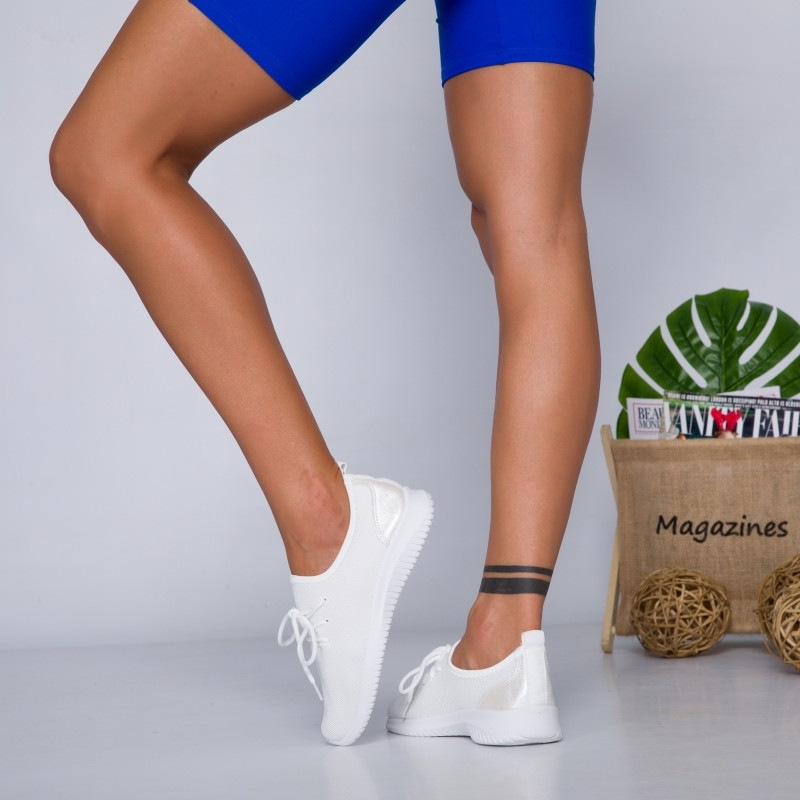"Pantofi Sport ""MireaFashion"" Cod: M3-2 WHITE (F16)"