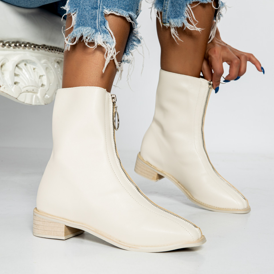 "Botine ""MireaFashion"" cod: 799 WHITE (M4)"