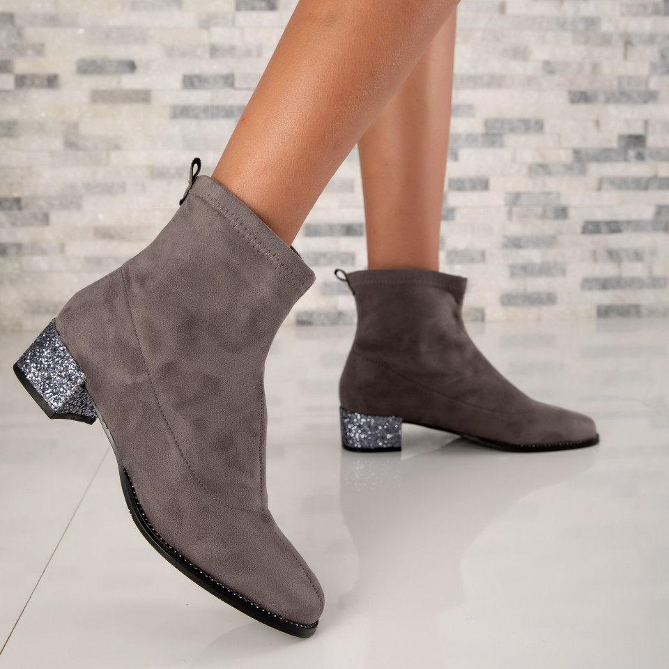 "Botine ""MireaFashion"" cod: BDF0152 D.GRAY (R9)"