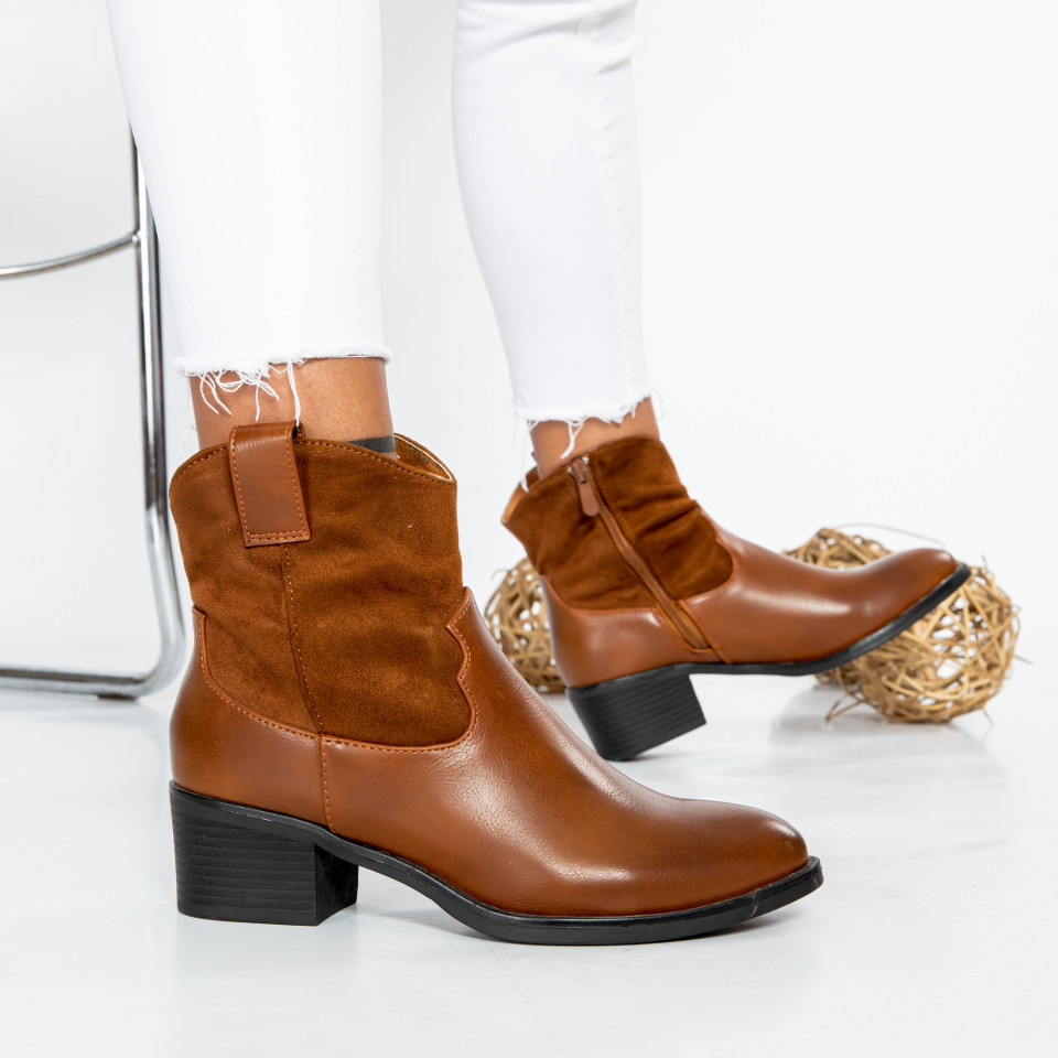 "Botine ""MireaFashion"" cod: SH920 CAMEL (D8)"