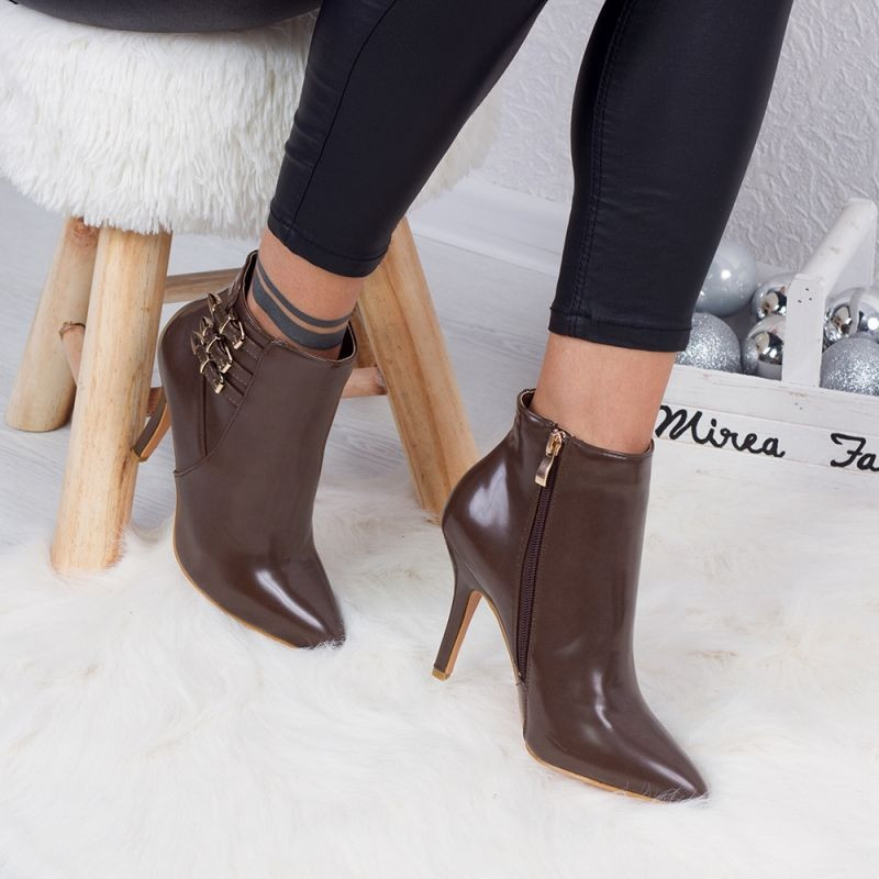 "Botine ""MireaFashion"" Cod: Y8667-3665 KHAKI PU (C7)"