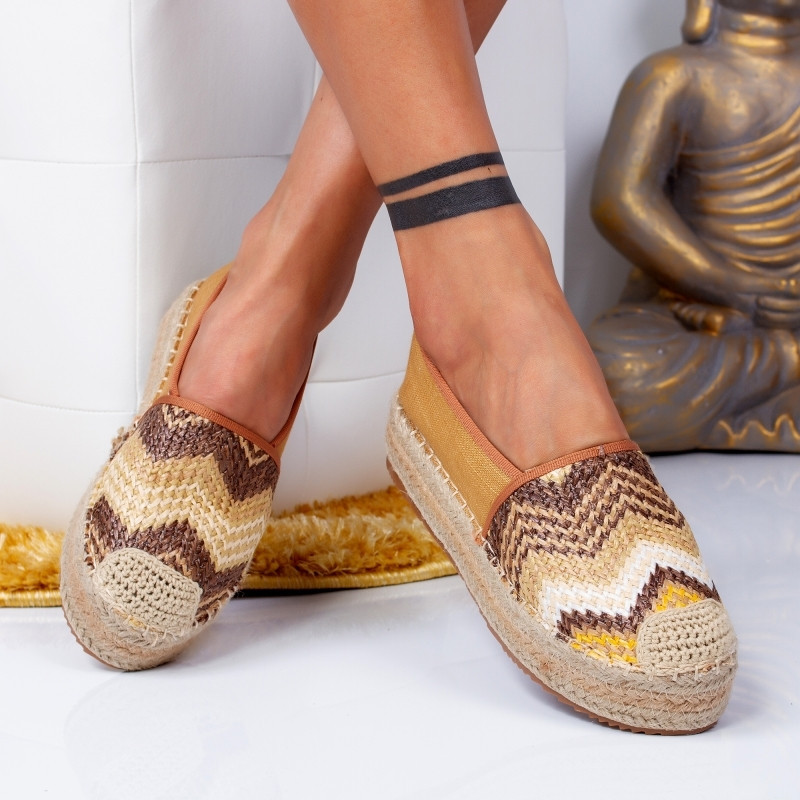 "Espadrile ""MireaFashion"" Cod: 00017 CAMEL (Q1)"
