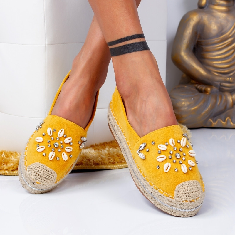 "Espadrile ""MireaFashion"" Cod: 00105 YELLOW (GG4)"