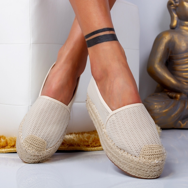 "Espadrile ""MireaFashion"" Cod: 00121 BEIGE (C8)"