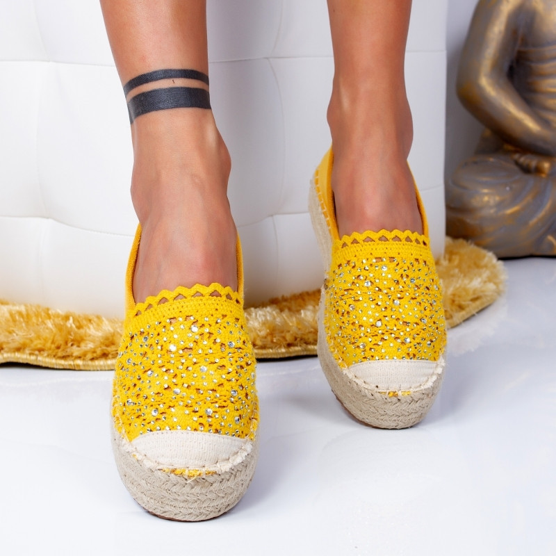 "Espadrile ""MireaFashion"" Cod: 00680 YELLOW (B7)"