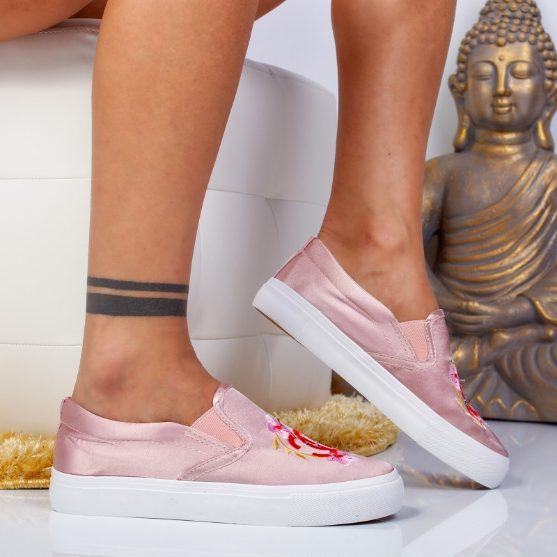 "Espadrile ""MireaFashion"" Cod: H2126 PINK (NN4-5)"