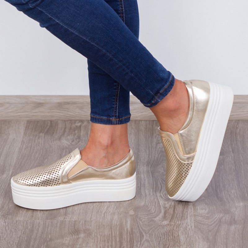 "Espadrile ""MireaFashion"" Cod: JY02 Gold (RR1-2)"