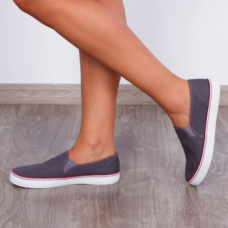 "Espadrile ""MireaFashion"" Cod: T111D Grey (L8)"