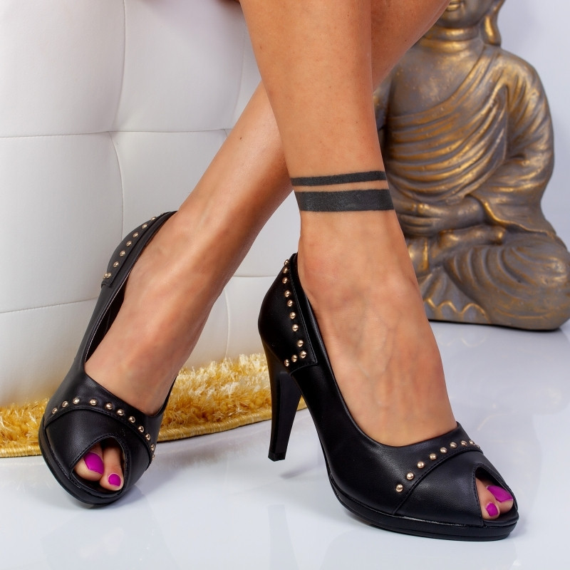 "Pantofi ""MireaFashion"" Cod: TM3588-2 BLACK (E 1)"