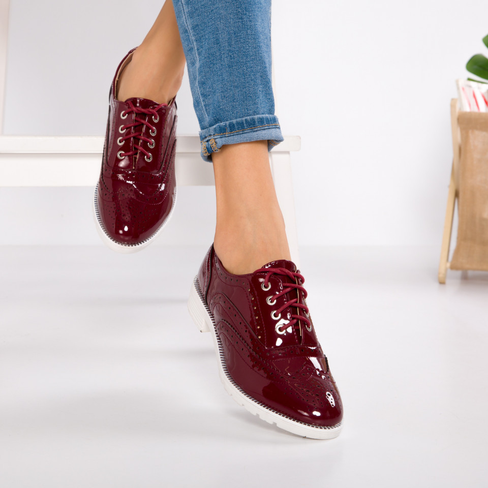 "Pantofi ""MireaFashion"" Cod: YES-A310-11 MAROON (P9)"