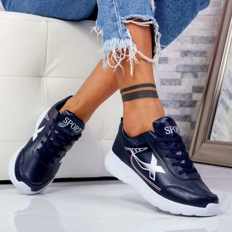 "Pantofi Sport ""MireaFashion"" Cod: 320 NAVY/WHITE (R9)"