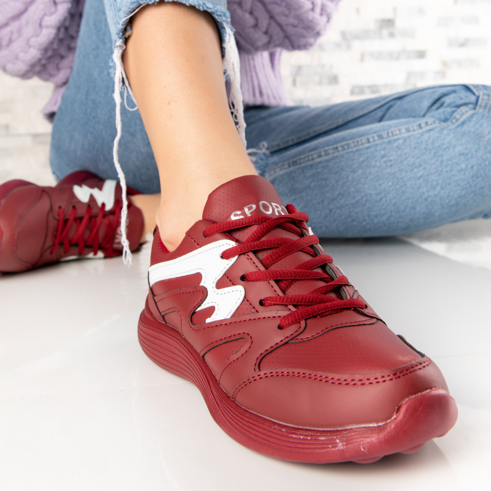 "Pantofi Sport ""MireaFashion"" Cod: 86 BURGUNDY (M15)"