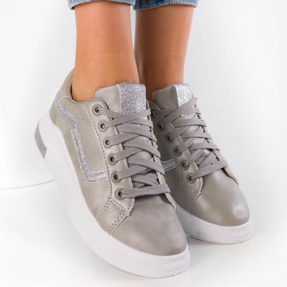 "Pantofi Sport ""MireaFashion"" Cod: ABC-280 GREY (J17)"
