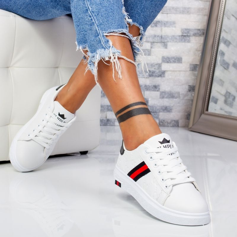 "Pantofi Sport ""MireaFashion"" Cod: H002 WHITE/BLACK (B12)"