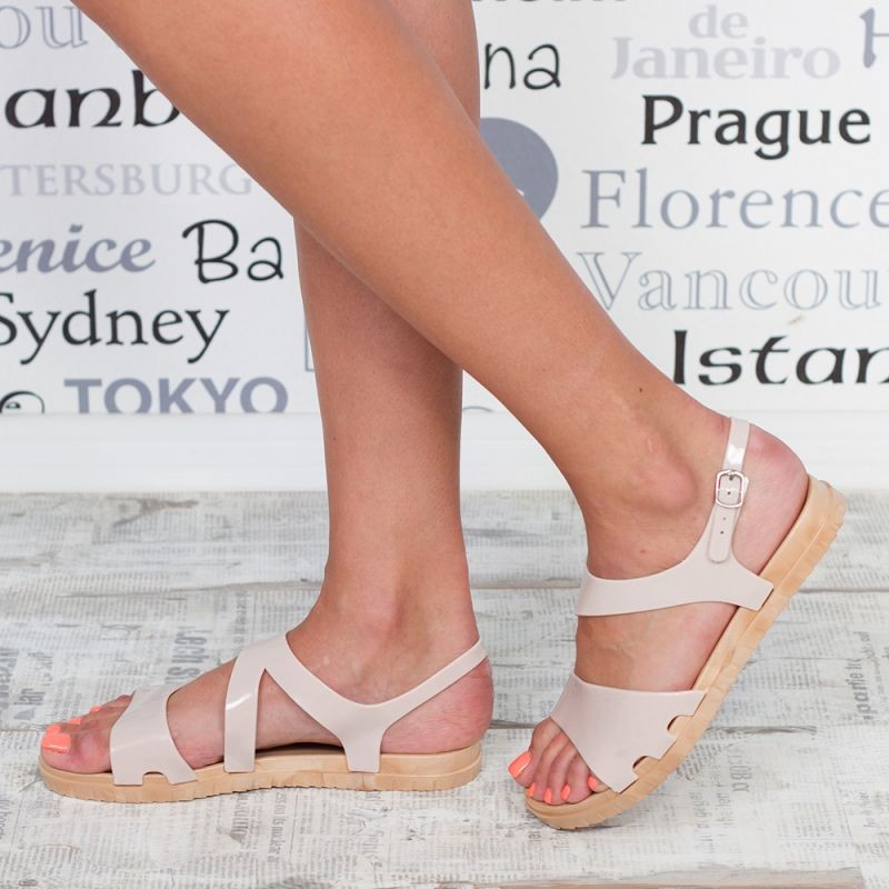 "Sandale ""MireaFashion"" Cod: 1858-A BEIGE(D-6)"