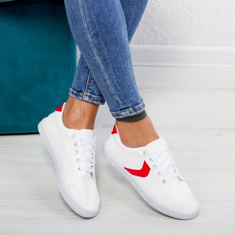"Tenisi ""MireaFashion"" Cod: HQ-119 WHITE/RED (F14)"