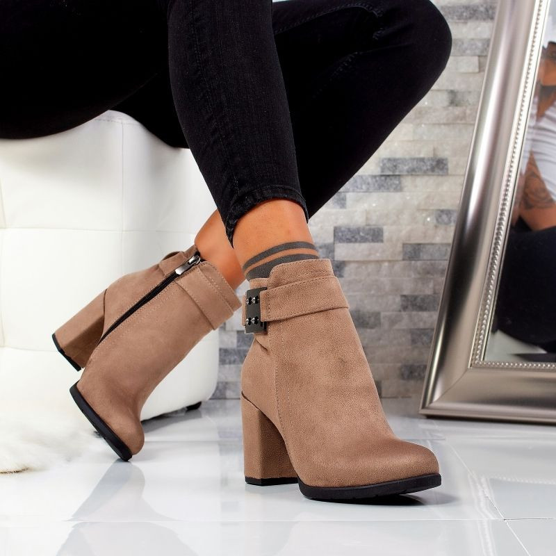 "Botine ""MireaFashion"" Cod: 1104 KHAKI (YY1-2)"