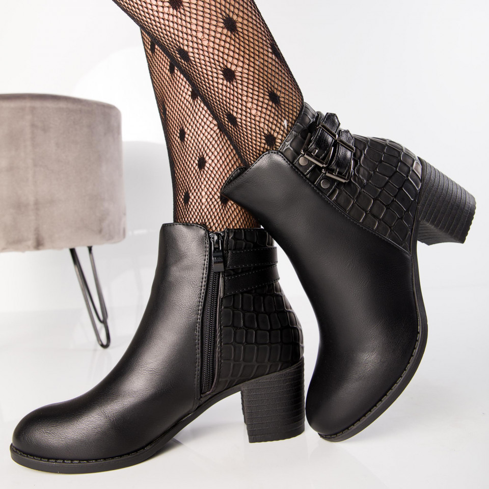 "Botine ""MireaFashion"" Cod: A995 BLACK (i12)"