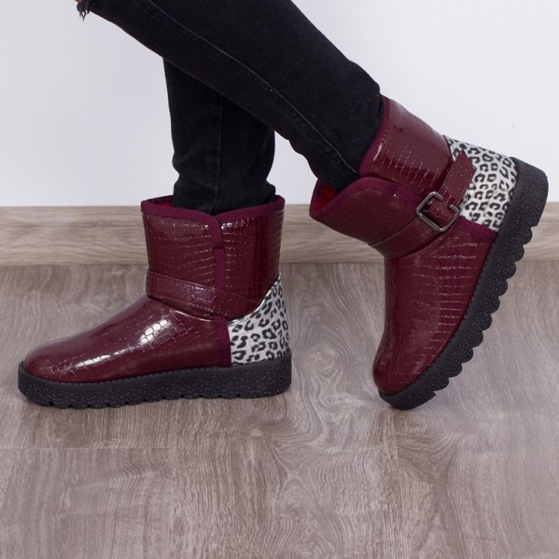 "Cizme ""MireaFashion"" Cod: 886 Wine Red (R1)"