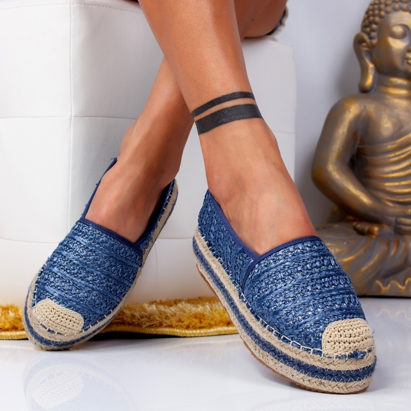 "Espadrile ""MireaFashion"" Cod: 00016 BLUE (P7)"