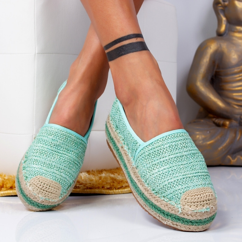 "Espadrile ""MireaFashion"" Cod: 00016 L. GREEN (MM3)"