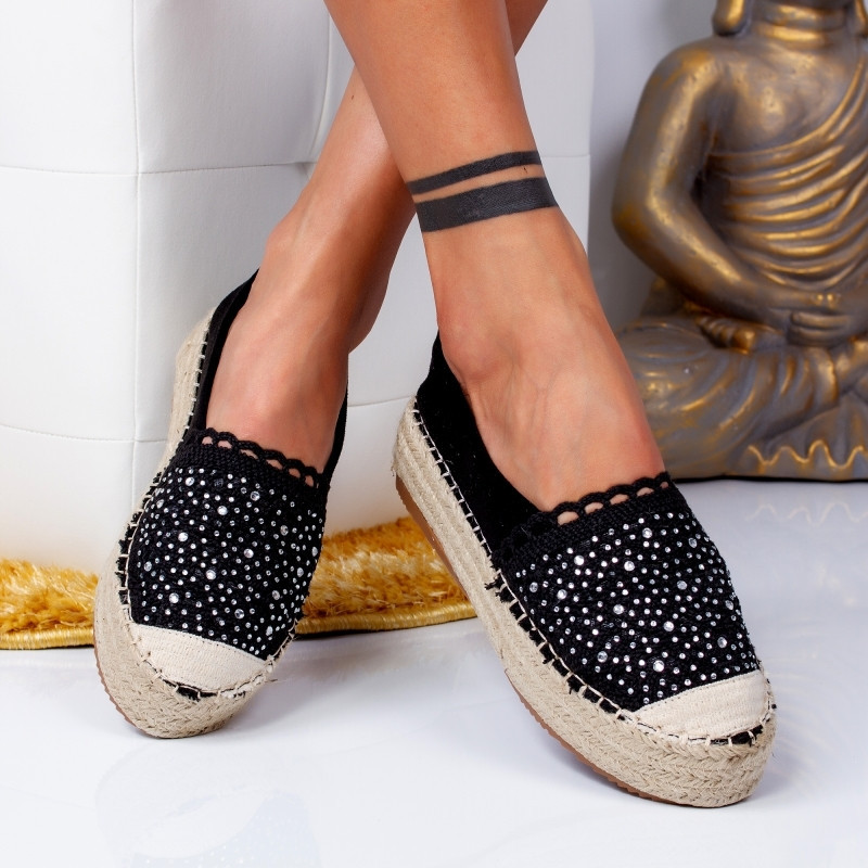 "Espadrile ""MireaFashion"" Cod: 00680 BLACK (OO5)"