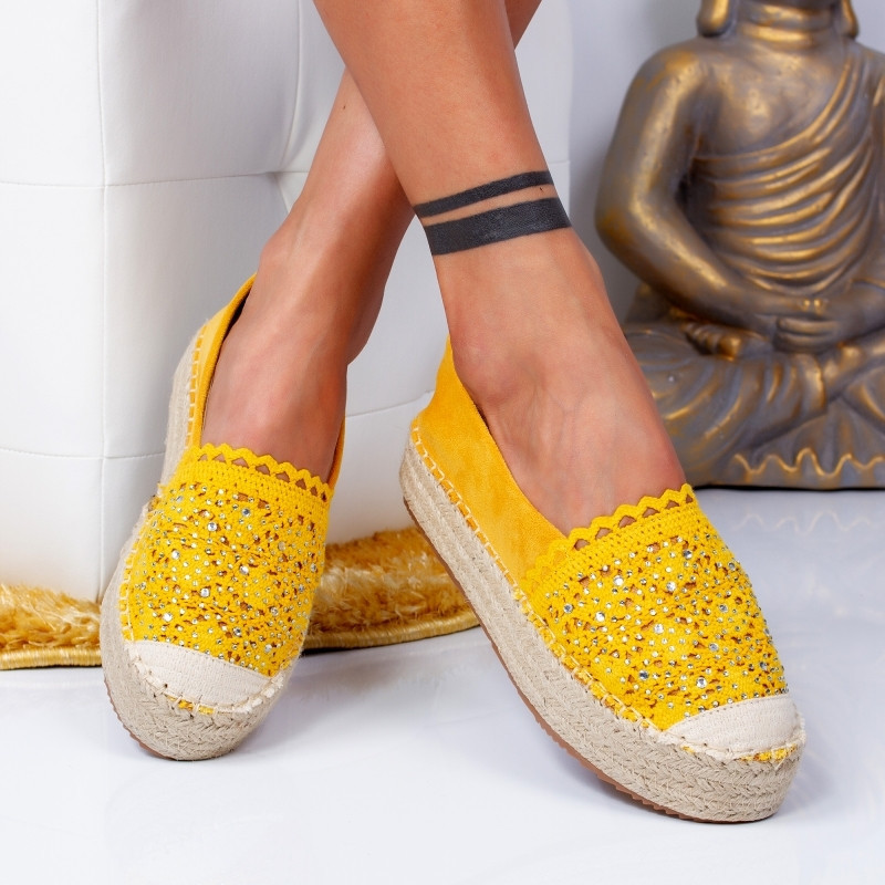 "Espadrile ""MireaFashion"" Cod: 00680 YELLOW (DD4)"