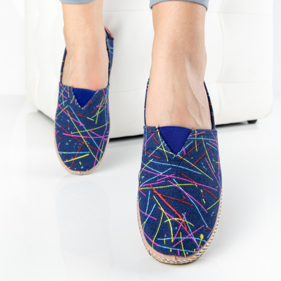 "Espadrile ""MireaFashion"" Cod: 307 BLUE (F14-15)"
