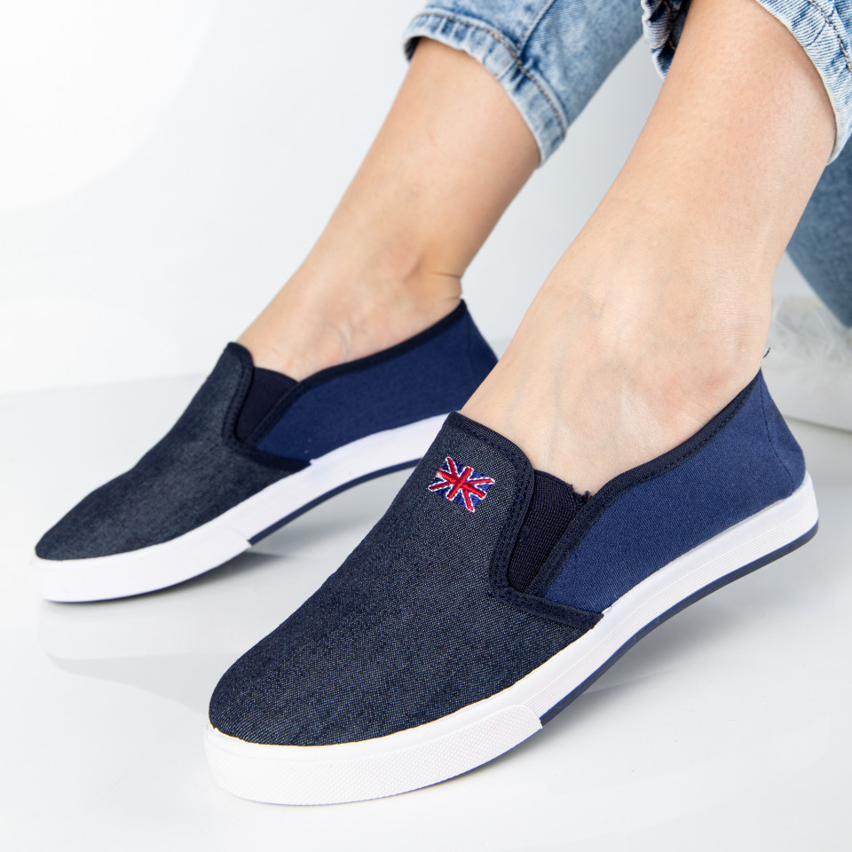 "Espadrile ""MireaFashion"" Cod: 337 D. BLUE (N2)"