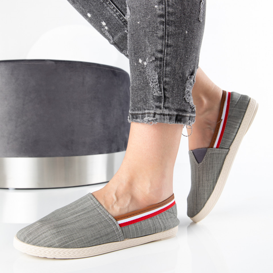 "Espadrile ""MireaFashion"" Cod: 347 GREY (K2)"