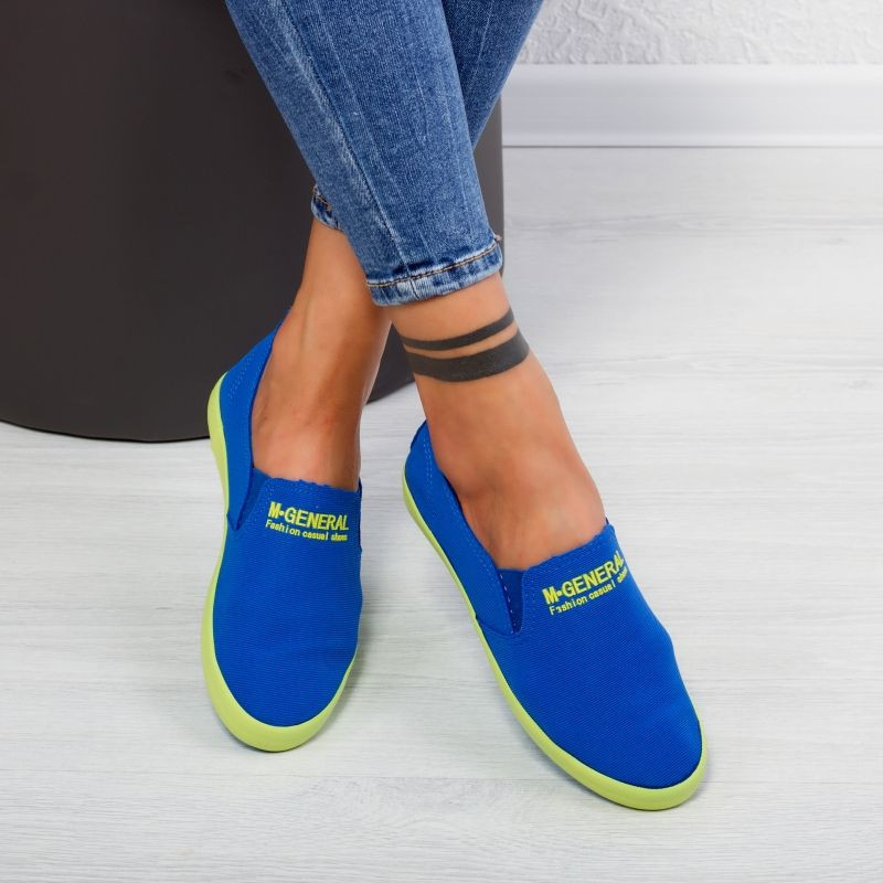"Espadrile ""MireaFashion"" Cod: C131 BLUE( C8 )"