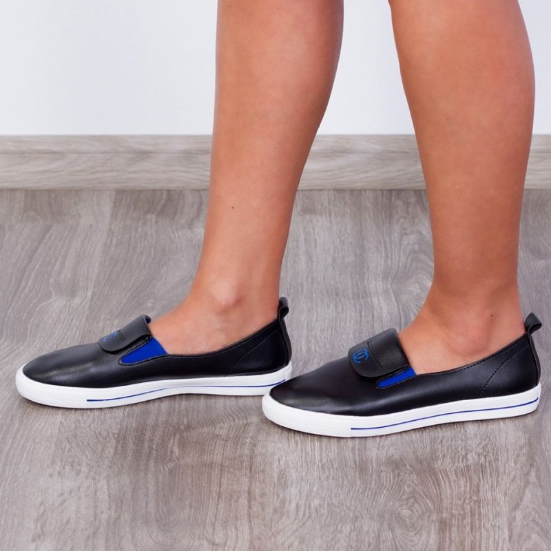 "Espadrile ""MireaFashion"" Cod: CF001 Blk/blue (M13)"
