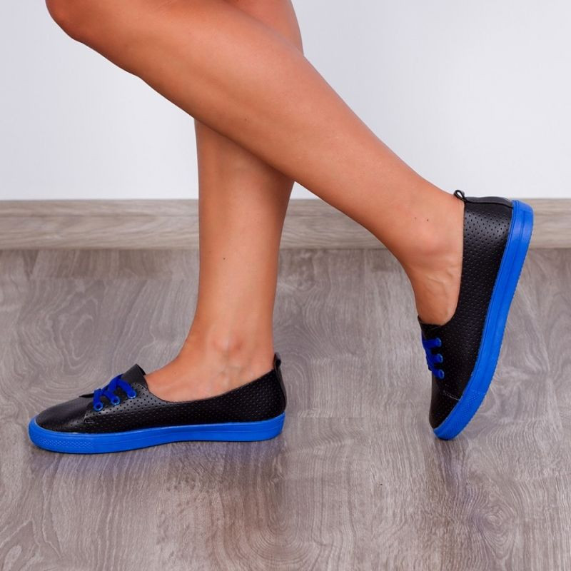 "Espadrile ""MireaFashion"" Cod: CF015 Blk/BLue (K6)"