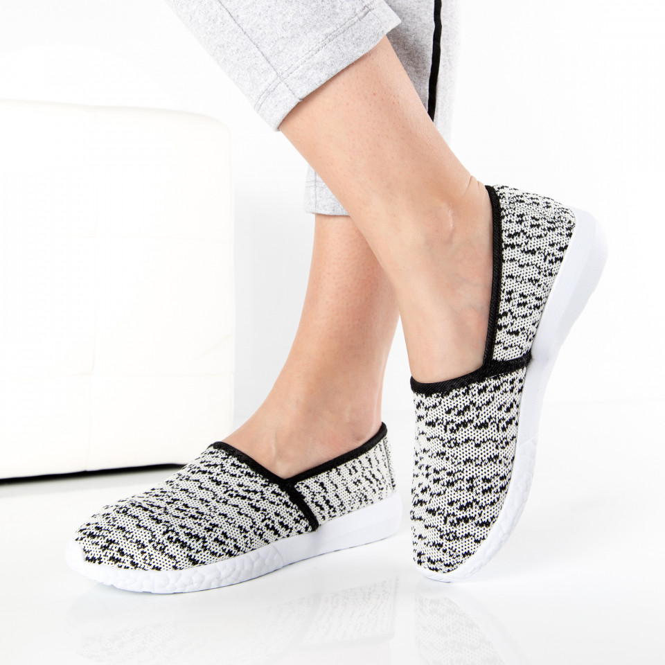 "Espadrile ""MireaFashion"" Cod: E-29 WHITE (Q7)"