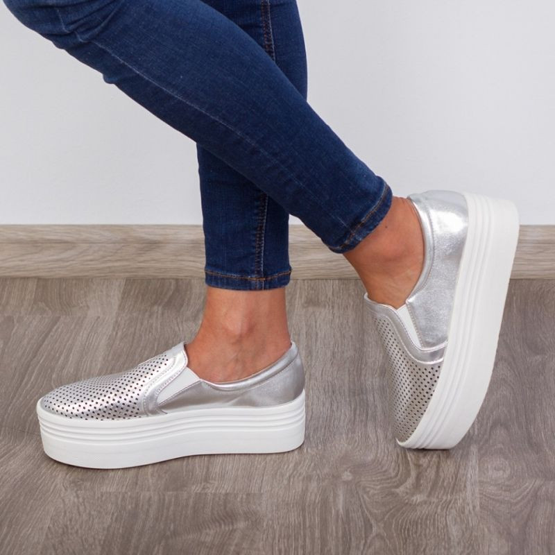 "Espadrile ""MireaFashion"" Cod: JY02 Silver(F10)"