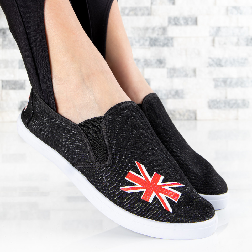 "Espadrile ""MireaFashion"" Cod: ZJ-18 BLACK (S13)"