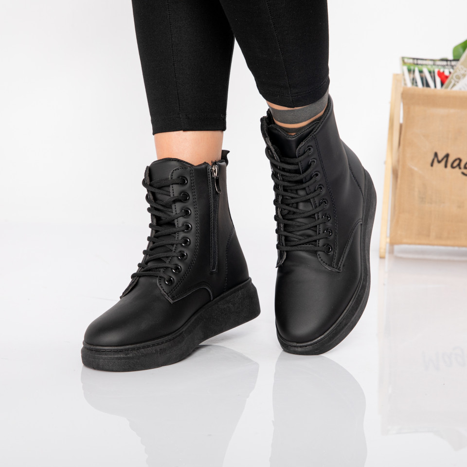 "Ghete ""MireaFashion"" cod: 932 BLACK (S9)"