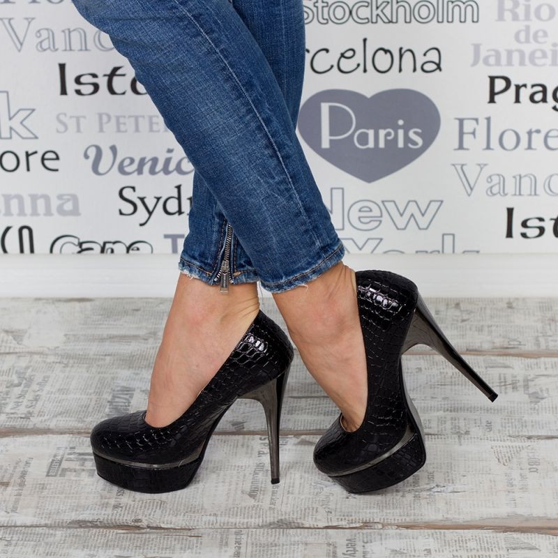 "Pantofi ""MireaFashion"" Cod: J121 BLACK (L12)"