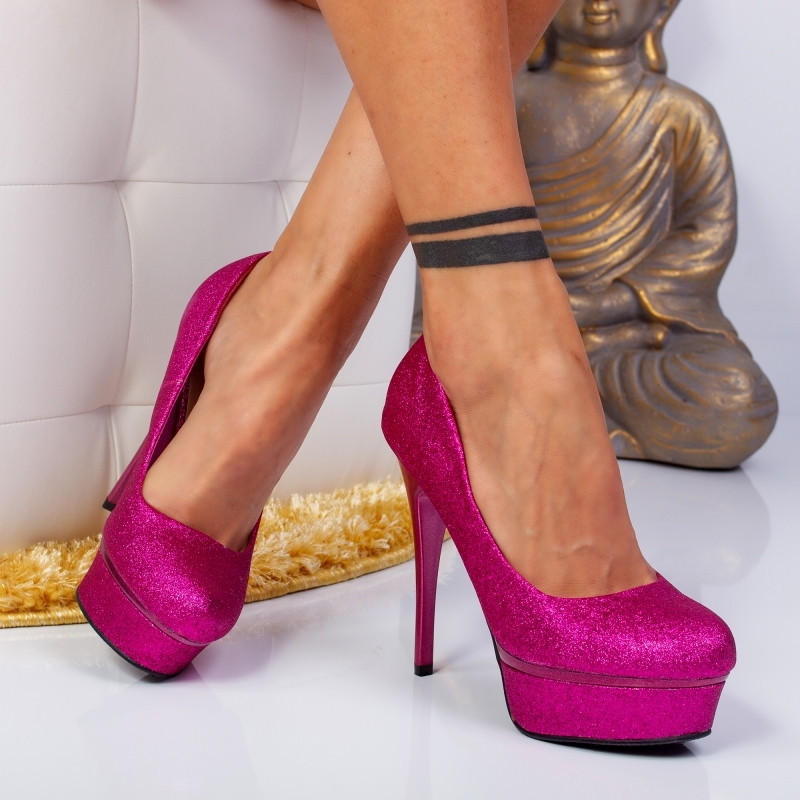 "Pantofi ""MireaFashion"" Cod: YES3478 FUCHSIA (N2-5)"