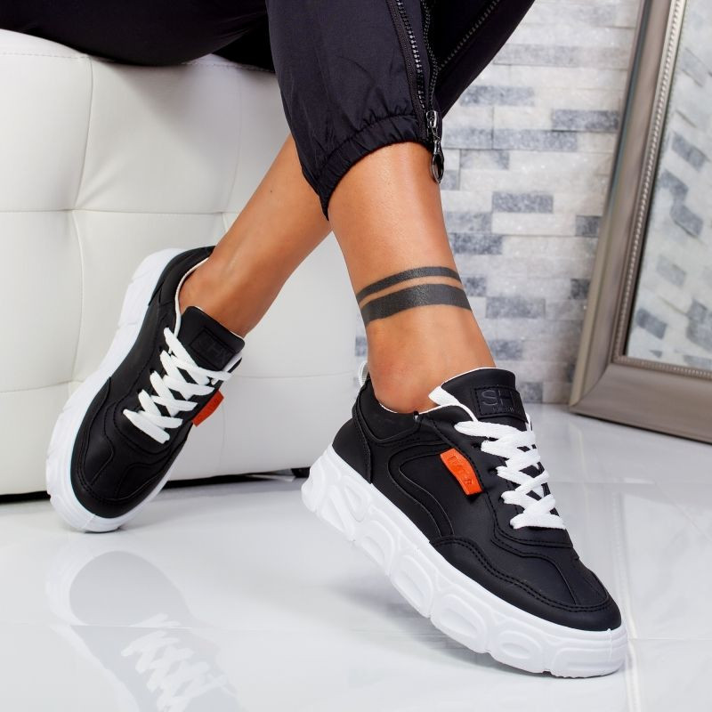 "Pantofi Sport ""MireaFashion"" Cod: 138 BLACK (EE2)"