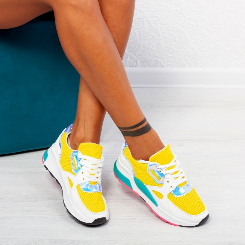 "Pantofi Sport ""MireaFashion"" Cod: ABC-291 YELLOW (P11)"